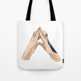 Val Hand Mudra Tote Bag