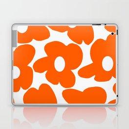 Orange Retro Flowers White Background #decor #society6 #buyart Laptop & iPad Skin