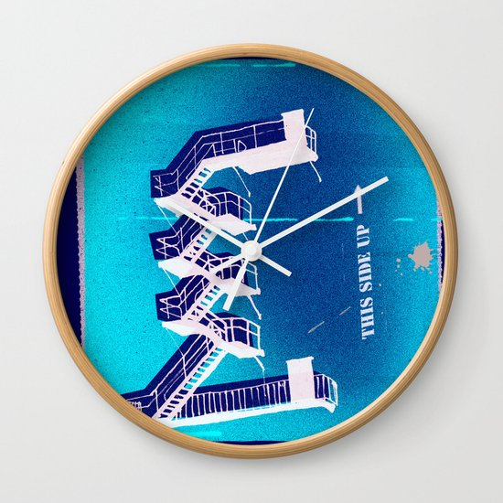 Stairs Up Wall Clock