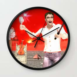 SquaRed: Opposite Wall Clock