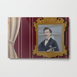 John Wilkes Booth and his mirror Metal Print