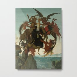 Michelangelo - The Torment of Saint Anthony Metal Print