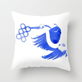 Heron (Keep it clean) Throw Pillow