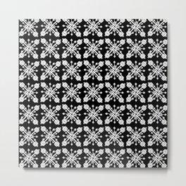 Key Pattern Black Metal Print