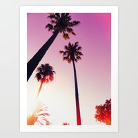 palm tree Art Prints featuring Palm tree by Emma.B