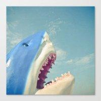 shark Canvas Prints featuring Shark! by Cassia Beck