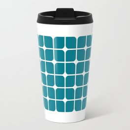 Modern Cubes - Teal Travel Mug