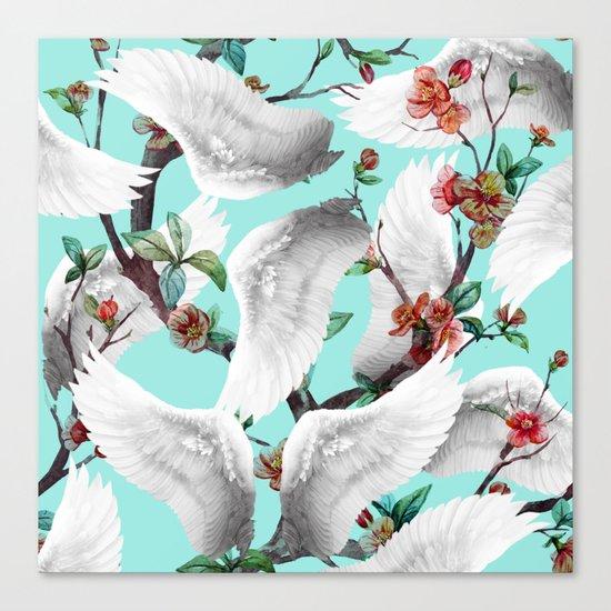 tropical wings flowers Canvas Print