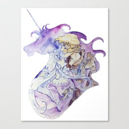 The Last Unicorn - Amalthea and Lir Canvas Print
