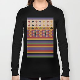 Stripes and squares ethnic pattern Long Sleeve T-shirt