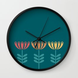 Honeysuckle Wall Clock