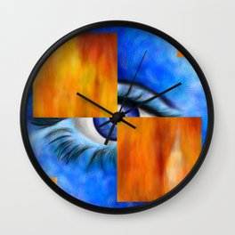 Ersebiossa V1 - hidden eye Wall Clock