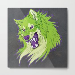 Ravewolf - Lime and Grape Metal Print