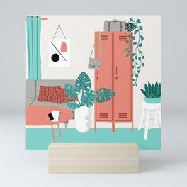 Lounge Room Featuring Lockers Mini Art Print