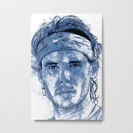 Rafael Nadal Illustration Metal Print