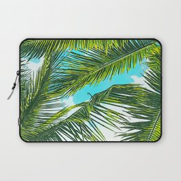 Life Under Palm Trees, Colorful Bohemian Beachy, Tropical Travel Nature Graphic Design Laptop Sleeve