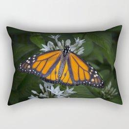 Monarch Butterfly Gathering Nectar Rectangular Pillow