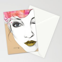 Life is a canvas, throw all the paint and sparkles on it you can Stationery Cards