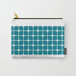 Modern Cubes - Teal Carry-All Pouch