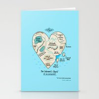 gemma Stationery Cards featuring A Map of the Introvert's Heart by gemma correll
