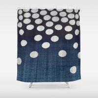 indigo Shower Curtains featuring Indigo by Good Sense