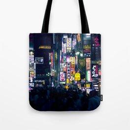 Neon Signs in Tokyo, Japan / Night City Series Tote Bag