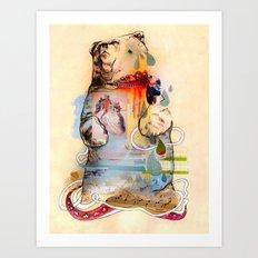 The Dancing Bear. Art Print