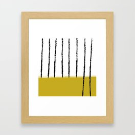 spighe di grano Framed Art Print