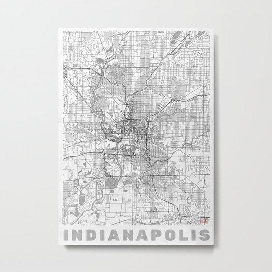 Indianapolis Map Line Metal Print