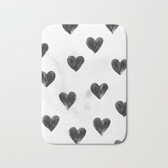 I drew a few hearts for you Bath Mat