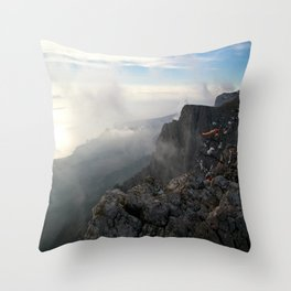 Freedom in the mountains Throw Pillow