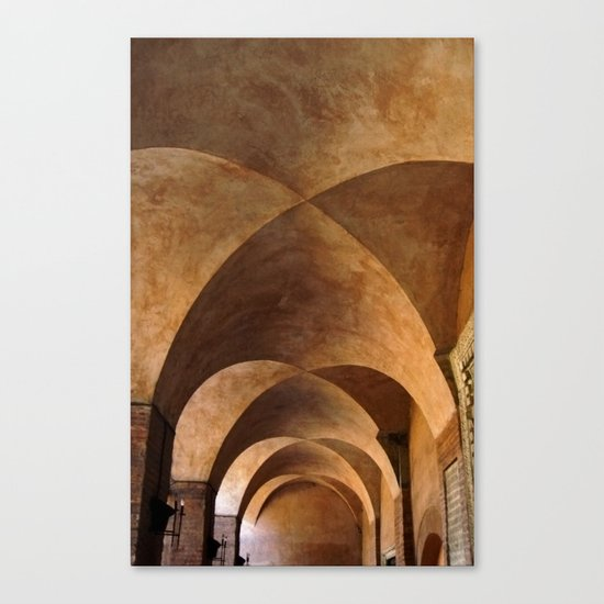 Symmetrical ceiling in Rome. Canvas Print