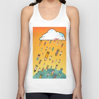 cloud Tank Tops featuring Cloud by R.E.L