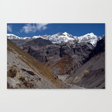 Scenery near Thorung Phedi Canvas Print