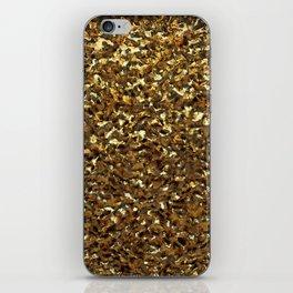 Crumpled Gold iPhone Skin
