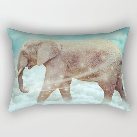 Walk With the Dreamers (Elephant in the Clouds) Rectangular Pillow
