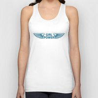 girl power Tank Tops featuring GIRL POWER by FabLife