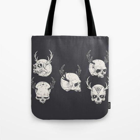 skulls & horns Tote Bag