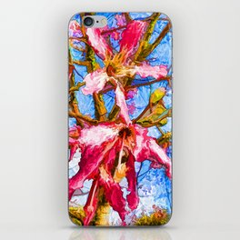 Tropical Flowers Design  iPhone Skin