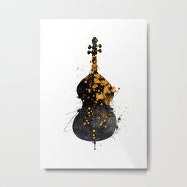 double bass music art #doublebass Metal Print