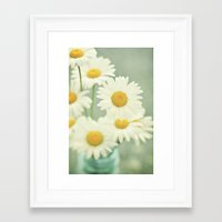 daisies Framed Art Prints featuring Daisies by Lawson Images