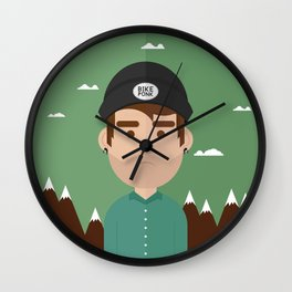 Bike punk Wall Clock