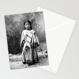 Dakota Sioux Little Girl Stationery Cards