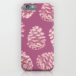 Blushing Deep Pine Cones iPhone Case