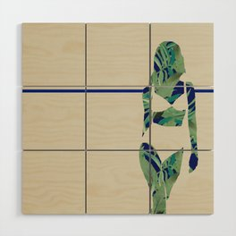 Back to Nature (Jungle Beach Escape Navy Ecru) Wood Wall Art