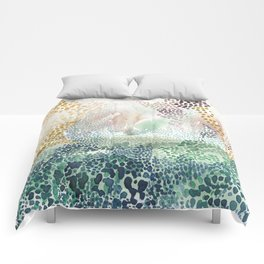 Flower burst; gold Comforters