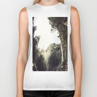 yosemite Biker Tanks featuring Yosemite Waterfalls by Anshil Alan Popli