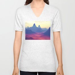 Mountains of Another World Unisex V-Neck