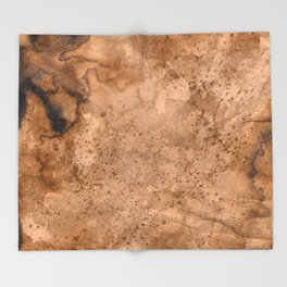 Acrylic Coffee Stained Paper Throw Blanket