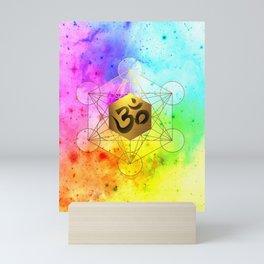 Sacred Geometry Metatron's Cube Om Chant Mini Art Print